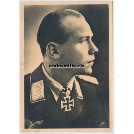 Major Helmut Wick postcard