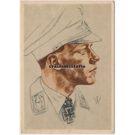 Major Helmut Wick - Willrich postcard