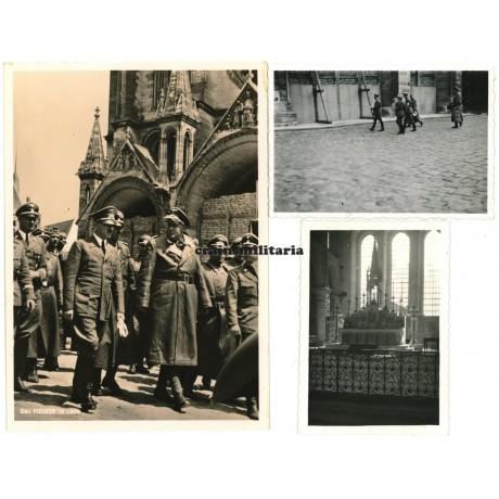Adolf Hitler visits Laon cathedral