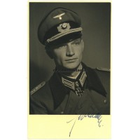 Knight's Cross winner Alfred Germer private signed portrait