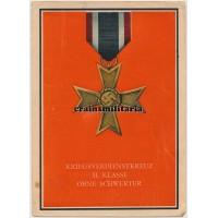 Kriegsverdienstkreuz II. Klasse ohne Schwerter postcard