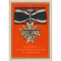 Ritterkreuz des Kriegsverdienstkreuzes mit Schwertern postcard