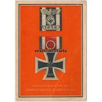 Eisernes Kreuz II. Klasse + Spange postcard