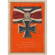 Ritterkreuz des Eisernen Kreuz mit Eichenlaub postcard