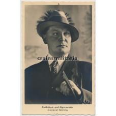 Hoffmann postcard Hermann Göring as Reichsforstjäger
