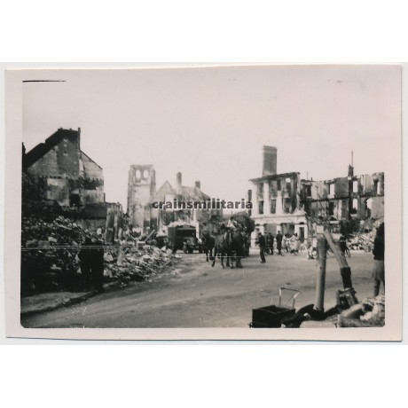 Destroyed city Calais, France 1940