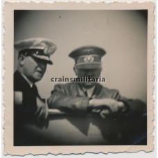 Hitler and Admiral Albrecht on the Gneisenau