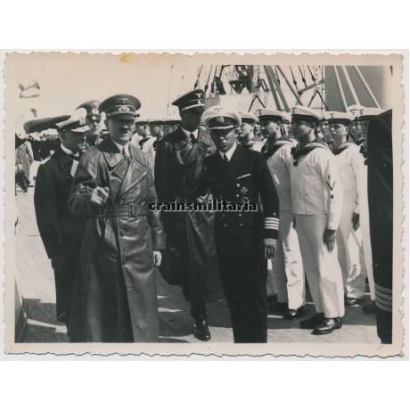 ***SOLD*** Hitler, Raeder and Keitel on the Gneisenau