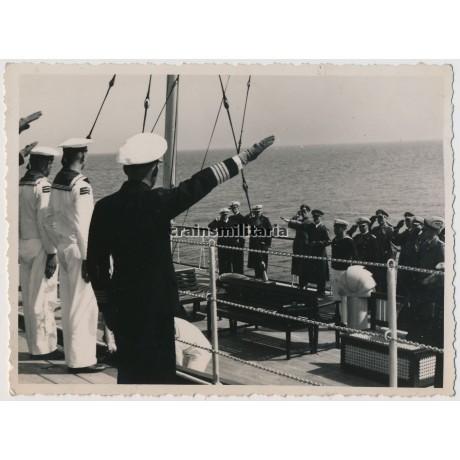 Hitler leaving the Gneisenau, 1938