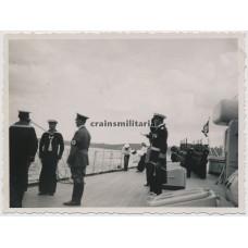 Hitler on battlecruiser Gneisenau