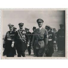 ***SOLD*** Hitler, Raeder and Horthy on Gneisenau