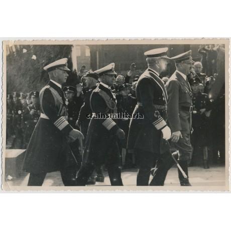 ***SOLD*** Hitler, Raeder, Albrecht and Horthy in Kiel