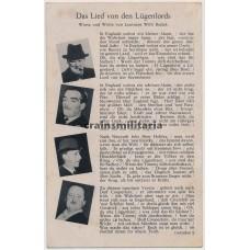 Propaganda postcard Lügenlord Churchill