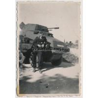 SS Panzermann with Panzerspähwagen