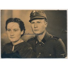 SS-Sturmmann portrait with wife