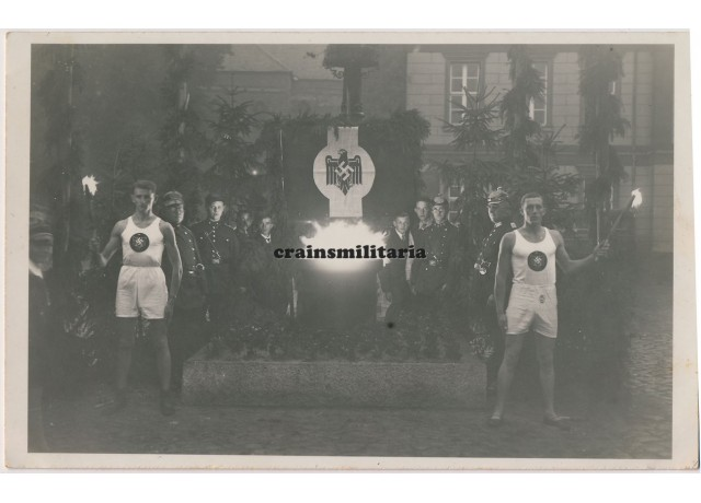 Olympic flame in German city 1936