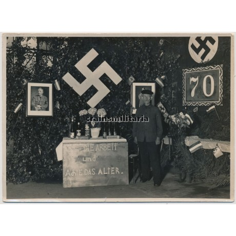70th Anniversary with political decoration