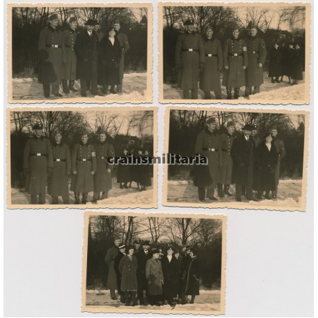 Five family photos of an SS soldier