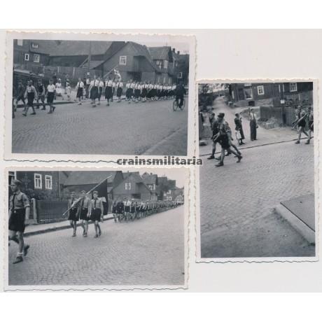 3 Hitlerjugend parade photos - BDM, DJ, ...