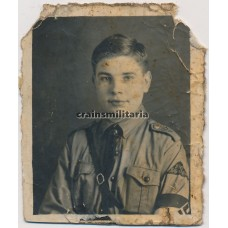 Hitlerjugend boy studio portrait
