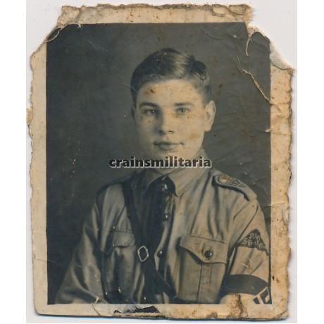 Hitlerjugend boy studio portrait