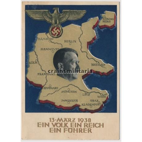Austrian Anschluss propaganda postcard