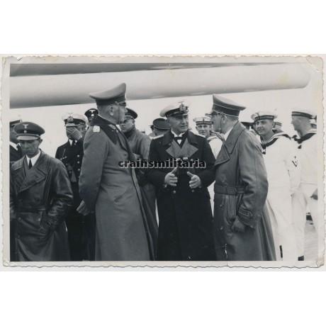 ***SOLD*** Hitler and Goebbels on Panzerschiff Deutschland