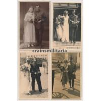 Four political wedding portraits