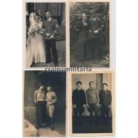 Four political postcard sized photos