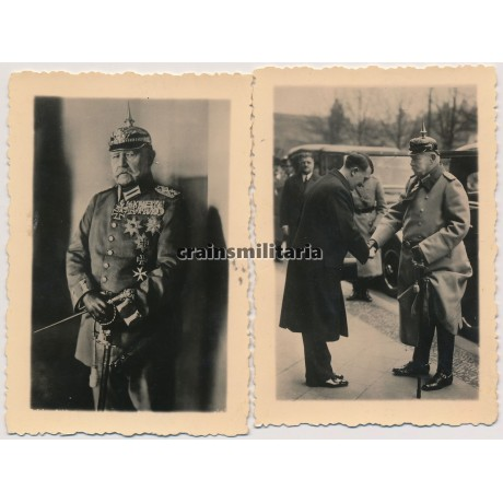 Hitler and von Hindenburg
