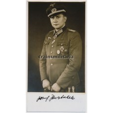 Knight's Cross winner Josef Jenatschek - postwar signed photo