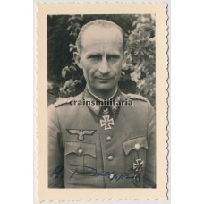 Knight's Cross winner Alfred Philippi - postwar signed photo