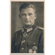 Knight's Cross winner Georg Budahl portrait