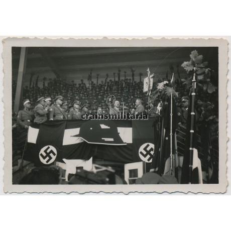 Hitler during Stahlhelmbund rally