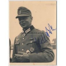 Knight's Cross winner Erich Darnedde signed photo