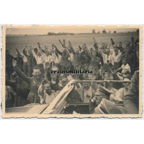 Hitler greeted near Wola Pekoszewska, Poland 1939
