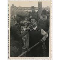 SS Totenkopf cutting Jew's beard