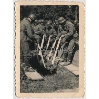 German soldier's burial