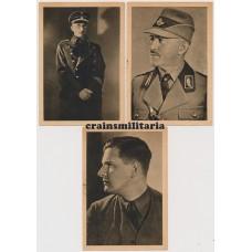 WHW Postcards - von Schirach, Hierl, Fiehler