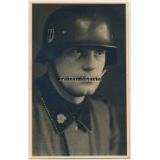 SS Totenkopf helmet portrait