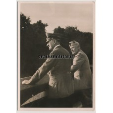 Hoffmann postcard Hitler and Mussolini