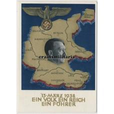 Anschluss postcard - Ein Volk, Ein Reich, Ein Führer