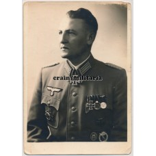 Signed Knight's Cross portrait Karl Pröll