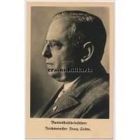 Postcard Stahlhelm leader Reichsminister Franz Seldte