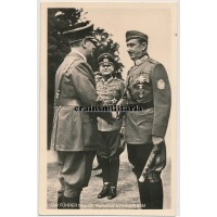 Hitler with Mannerheim postcard