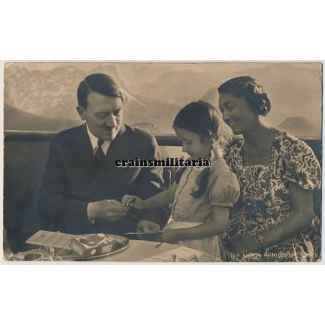 Hitler on Obersalzberg postcard
