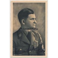 Gauleiter Ernst Bohle signed Hoffmann postcard