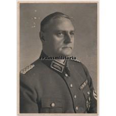 RAD Generalarbeitsführer Arthur Etterich postcard