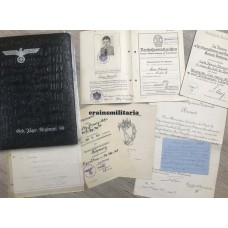 Gebirgsjäger photo album and award docs