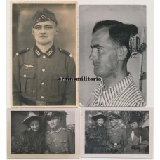 Photo grouping to mutilated Panzer soldier